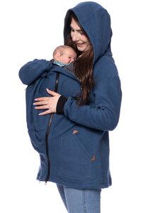 MEJA BIO Baumwollfleece Baby-Tragejacke Umstandsjacke 100 % made in Germany - Milchshake