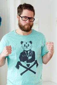 T-Shirt 'Bär' Bruno - Fair Wear T-Shirt - Heather Mint - päfjes