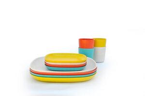 BIOBU Gusto Lunch-Set 2 (je 4 x Speiseteller, kl. Teller, mittelgr. Becher) 34321 - EKOBO