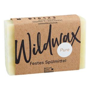 Wildwax Festes Spülmittel Pure - Wildwax Tuch
