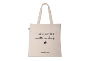 """Canvas Shopper """"Life is better"""" - Treusinn"""