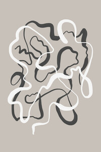 Abstract Brush Strokes 43 - Poster von Mareike Böhmer - Photocircle