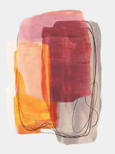 Abstract Brush Strokes 51 - Poster von Mareike Böhmer - Photocircle
