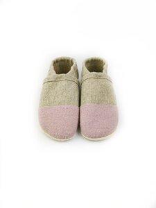 Hausschuhe aus Wollfilz mit pflanzlich gegerbter Ledersohle für Erwachsene - Süßstoff
