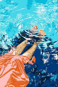 Take Me Where The Waves Kiss My Feet - Poster von Uma Gokhale - Photocircle