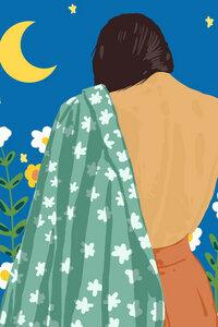 I Love The Moon & The Stars - Poster von Uma Gokhale - Photocircle