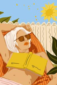 Reading Books Is My Escape - Poster von Uma Gokhale - Photocircle