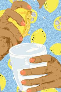 Squeeze The Day - Poster von Uma Gokhale - Photocircle