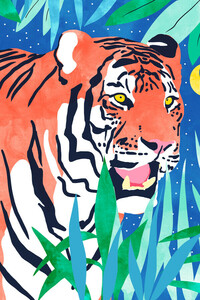 Tiger Forest - Poster von Uma Gokhale - Photocircle