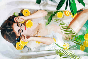 When All Else Fails, Take a Bath - Poster von Uma Gokhale - Photocircle