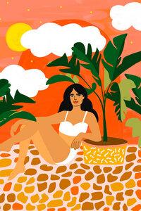 Life With Banana Trees - Poster von Uma Gokhale - Photocircle