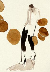 Silhouette - Poster von Ekaterina Koroleva - Photocircle