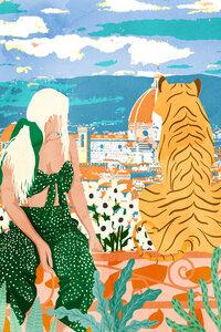 The Italian View - Poster von Uma Gokhale - Photocircle