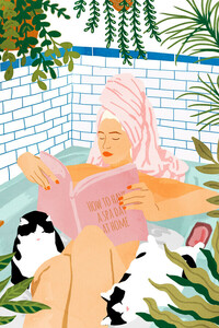 How To Have A Spa Day At Home - Poster von Uma Gokhale - Photocircle