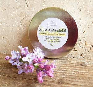 Bio Sheabutter mit Mandelöl für trockene Haut - Küstenseifen Manufaktur