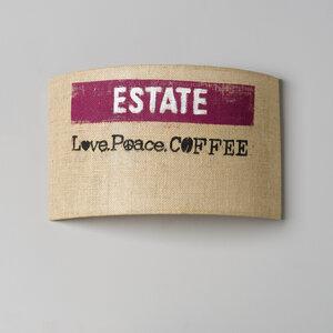 Wandleuchte Perlbohne N°91 aus Kaffeesack - lumbono