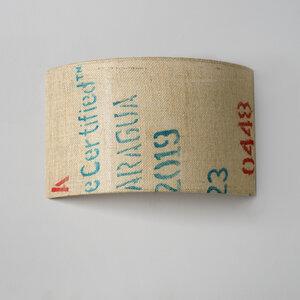 Wandleuchte Perlbohne N°88 aus Kaffeesack - lumbono