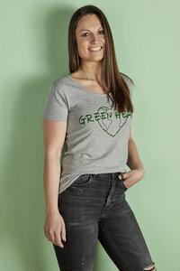Shirt Eco Woman NIN Grau mit Statement - La Gitana