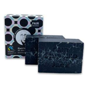 Fair Squared Black Soap - schwarze Gesichtsseife 2x80 Gramm - Soap Bar - Fair Squared