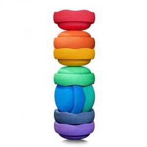 Stapelstein Rainbow Basic, 8er Set - Stapelstein