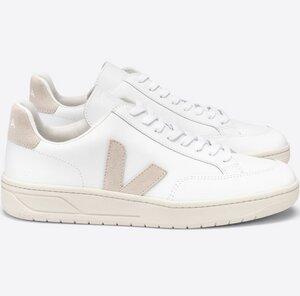 Sneaker Damen - V-12 Leather - Extra White Sable - Veja