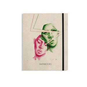 """Matabooks - Notizbuch Graspapier """"Like thunder and lightning"""" (black/carton) - Swiss Brochure - Matabooks"""