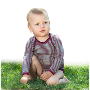 Baby Body langarm Wolle/Seide - Engel natur