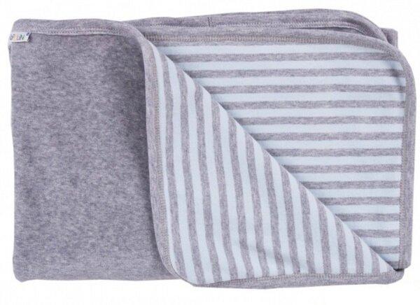 popolini baby decke blau grau 90x70 bio baumwolle avocadostore. Black Bedroom Furniture Sets. Home Design Ideas