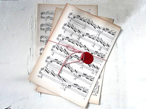 Geschenktüten aus Notenpapier - renna deluxe