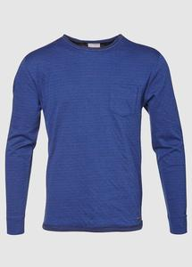 Double Layer Narrow Striped Estate Blue - KnowledgeCotton Apparel