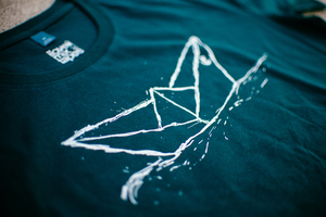 Paperboat Fair Trade / Bio Shirt _ teal_men - ilovemixtapes