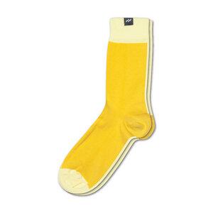 Bunte zweifarbige Socken aus Bio-Baumwolle für Männer und Frauen - Gelb / Zitrus - MINGA BERLIN