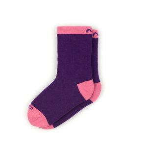 Bunte color block Kindersocken aus Bio-Baumwolle (GOTS) - Violett / Rosa - MINGA BERLIN