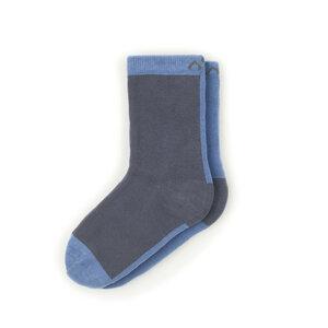 Bunte zweifarbige Kindersocken aus Bio-Baumwolle (GOTS) - Blau / Grau - MINGA BERLIN