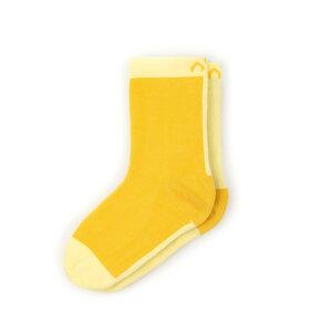 Bunte zweifarbige Kindersocken aus Bio-Baumwolle (GOTS) - Gelb / Zitrus - MINGA BERLIN