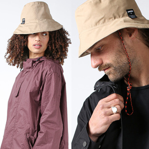 Unisex Hut im Bucket Hat-Style aus Bio-Baumwolle von JECKYBENG in caramelfarben - JECKYBENG