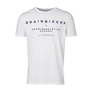 T-Shirt BrainBikers - Bright White - KnowledgeCotton Apparel