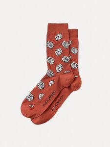 Unisex Socken Olsson Dices Poppy Red - Nudie Jeans