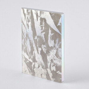 Crystal - Premium Notizbuch holographisch mit Einband aus Jeans Label Material, vegan - Nuuna