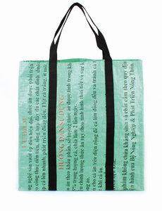 Große Einkaufstasche aus recycelten Reissäcken - El Puente
