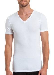 Herren Basic Shirt V-Ausschnitt Feinripp Bambus/Elasthan - Haasis Bodywear