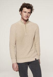 Zip Sweater - Baumwolle - stehkragen - gestrickt & circular - Loop.a life