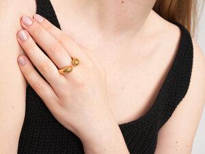Chunky Ring offen // Gold - FOLKDAYS