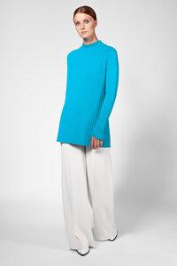 Pullover in türkis blau aus 100% extrafeiner Merinowolle - t7berlin