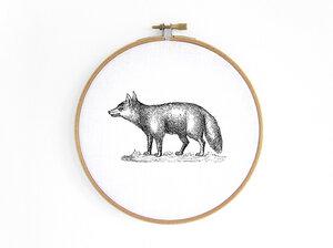 Fuchs im Stickrahmen - renna deluxe
