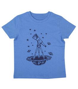 Sterne & Teleskop - Fair Wear Bio Kinder T-Shirt - BrightBlue - päfjes