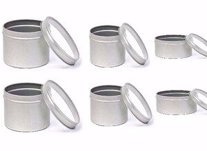 6 Stück Set Kräuter und Gewürz Dosen in 3 Größen * 3 x 2 Dosen mit Klarsichtdeckel - Cameleon Pack