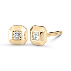Ohrstecker NO. 8 aus 18 Karat recyceltem Gold mit Diamanten - VON KRONBERG