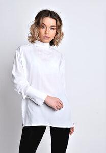 Stehkragenbluse mit Knöpfen am Rücken  - SinWeaver alternative fashion