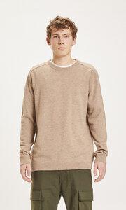 Strickpullover - FIELD o-neck knit - aus Bio-Lammwolle - KnowledgeCotton Apparel
